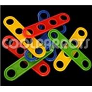 Placa de 4 agujeros de resistente plástico