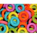 Pack 20 arandelas de plástico de colores