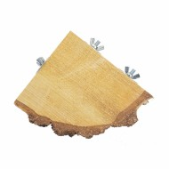 plataforma de esquina de madera