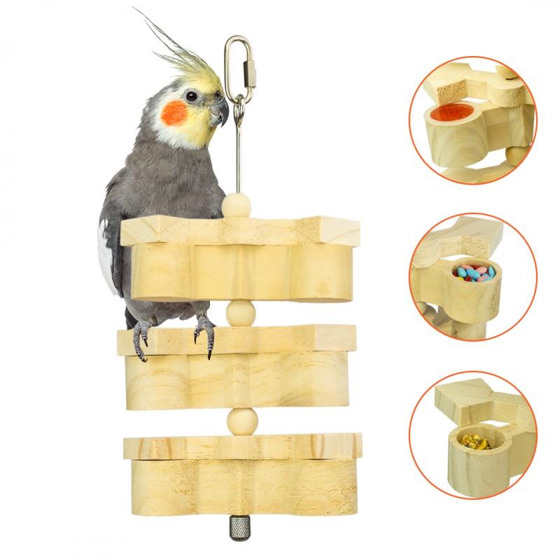 POPETPOP Coloridos Juguetes de Madera para P/ájaro Flexible de Cuerda de Mordedura de Madera para Aves Loros Cockatiel Colgantes Rat/án Loro Juguetes de Masticaci/ón