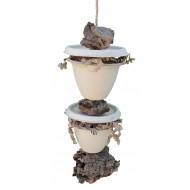 Natural shredding corky pots tower