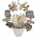 Natural shredding planter ring
