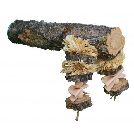 Natural Shredding Corky Toy Perch