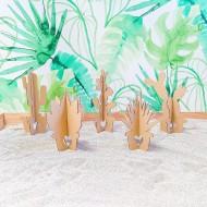 Cactus de cartón (5 piezas)