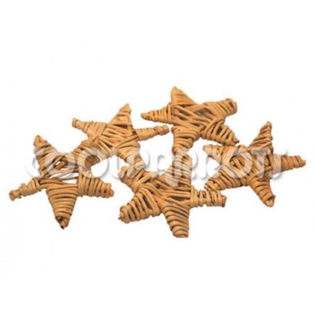 Estrellas de ratán 4 piezas