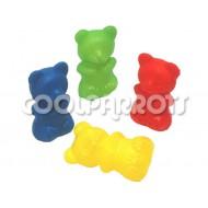 Ositos de plástico grandes 4 unidades