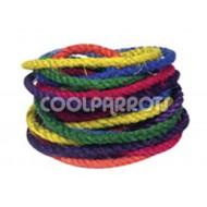 Cuerda de sisal coloreada