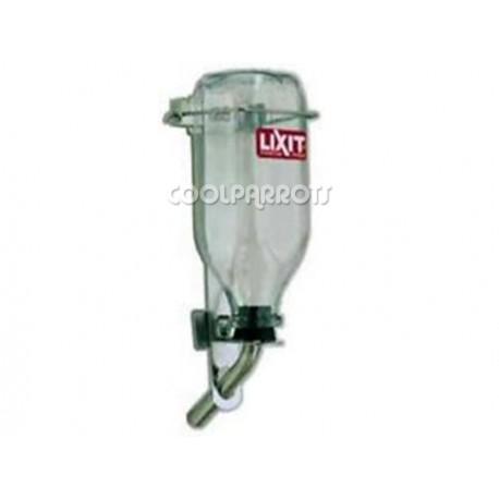 Bebedero de cristal Lixit para grandes loros 1 litro