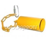 Campana tubular irrompible con cadena