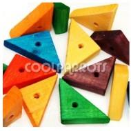 Triángulos grandes de madera 2 unidades