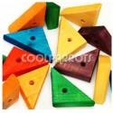 Triángulo de madera grande